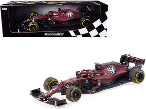 Alfa Romeo Racing C38 Kimi Raikkonen Valentine's Day Livery Shakedown in Fiorano 14th February, 2019 (Formula One Racing Car) Limited Edition to 702 pieces Worldwide 1/18 Diecast Model Car by Minichamps