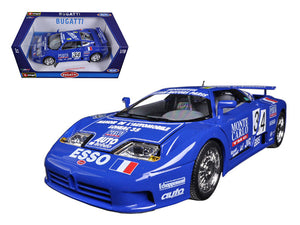Bugatti EB 110 Blue #34 La Mini Mineria 1/18 Diecast Car Model by Bburago | Allshop.store