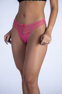 Dusty Pink Lace It Up Thong