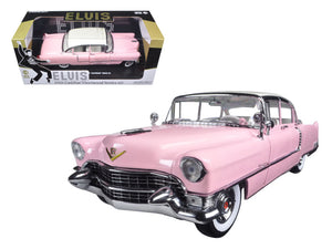 "1955 Pink Cadillac Fleetwood Series 60 Special ""Elvis Presley"" 1/18 Diecast Model Car by Greenlight 