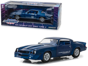 1981 Chevrolet Z28 Yenko Turbo Z Blue 1/18 Diecast Model Car by Greenlight | Allshop.store