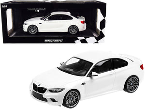 2019 BMW M2 Competition White Limited Edition to 504 pieces Worldwide 1/18 Diecast Model Car by Minichamps