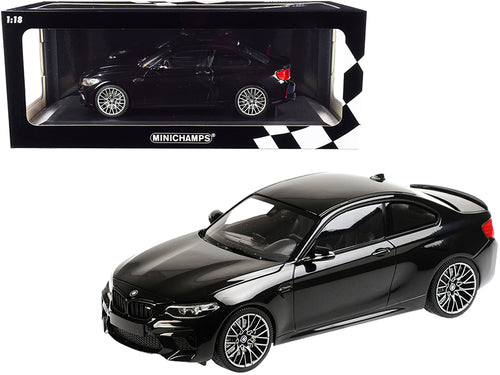 2019 BMW M2 Competition Black Metallic Limited Edition to 504 pieces Worldwide 1/18 Diecast Model Car by Minichamps