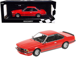 1982 BMW 635 CSi Red Limited Edition to 504 pieces Worldwide 1/18 Diecast Model Car by Minichamps