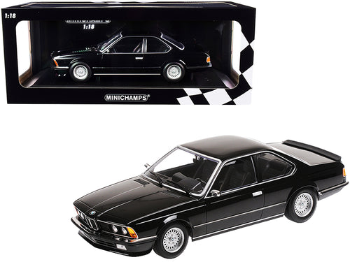 1982 BMW 635 CSi Black Metallic Limited Edition to 504 pieces Worldwide 1/18 Diecast Model Car by Minichamps