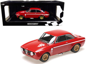 1971 Alfa Romeo GTA 1300 Junior Red Limited Edition to 600 pieces Worldwide 1/18 Diecast Model Car by Minichamps