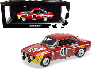 Alfa Romeo GTA 1300 Junior #40 Picchi / Chasseuil Winners Division 1 12H Paul Ricard (1971) Limited Edition to 336 pieces Worldwide 1/18 Diecast Model Car by Minichamps