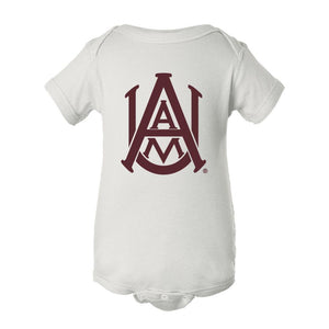 NCAA Alabama A&M Bulldogs PPAMU01 Baby Short Sleeve One Piece