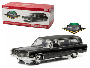 1966 Cadillac S&S Limousine Black Precision Collection Limited Edition 1/18 Diecast Model Car by Greenlight | Allshop.store
