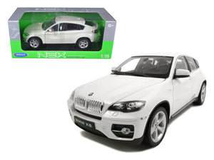 2011 2012 BMW X6 White 1/18 Diecast Car by Welly | Allshop.store