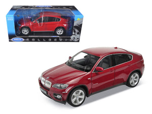 2011 2012 BMW X6 Red 1/18 Diecast Car Model by Welly | Allshop.store