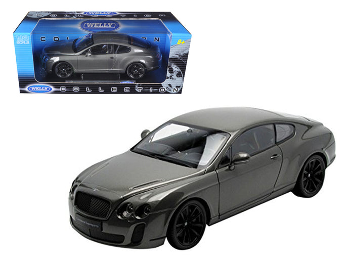 Bentley Continental Supersports Coupe Grey 1/18 Diecast Model Car by Welly | Allshop.store