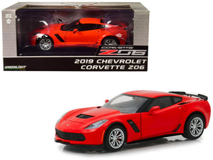 2019 Chevrolet Corvette Z06 Coupe Torch Red 1/24 Diecast Model Car by Greenlight