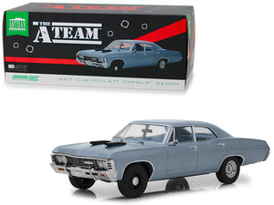 "1967 Chevrolet Impala Sedan Steel Blue ""The A-Team"" (1983-1987) TV Series 1/18 Diecast Model Car by Greenlight 