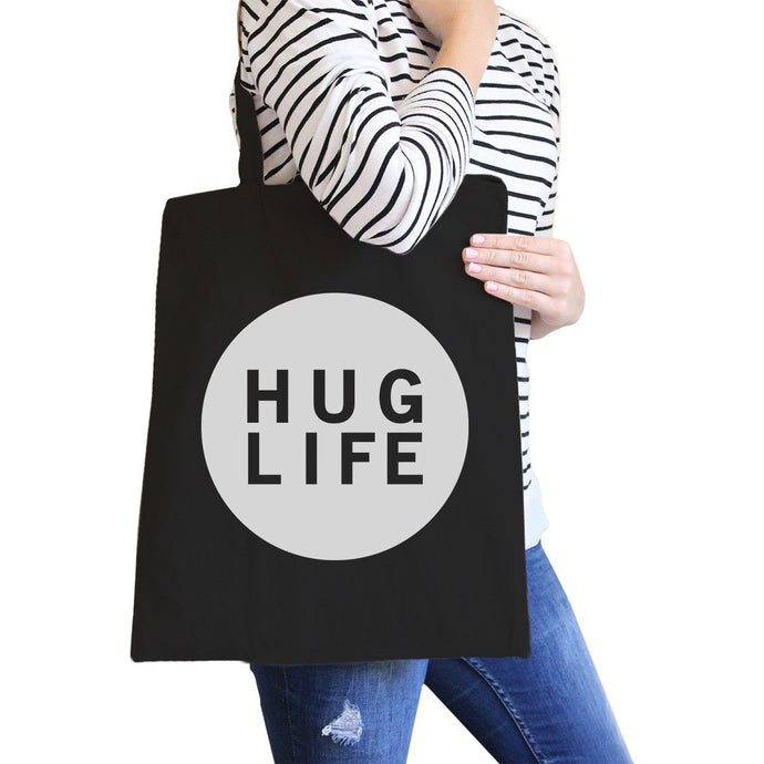 Hug Life Black Canvas Bag