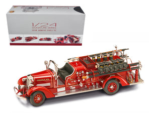 1938 Ahrens Fox VC Fire Engine Truck Red with Accessories 1/24 Diecast Model by Road Signature | Allshop.store