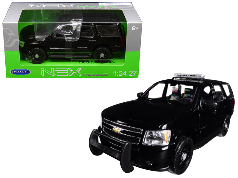 2008 Chevrolet Tahoe Unmarked Police Version Black 1/24 - 1/27 Diecast Model Car by Welly | Allshop.store