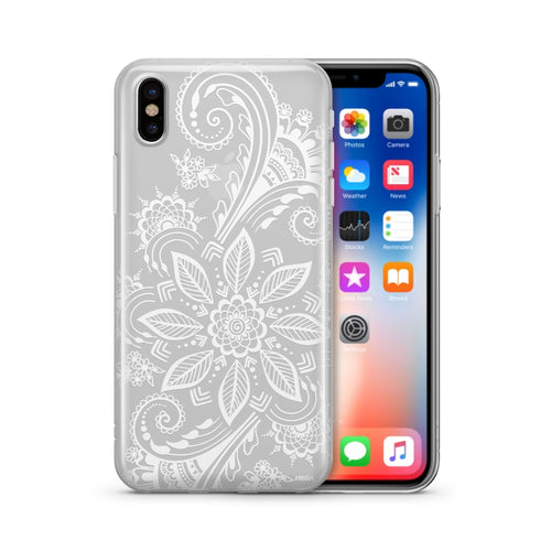 Mehndi Henna - Clear TPU Case Cover
