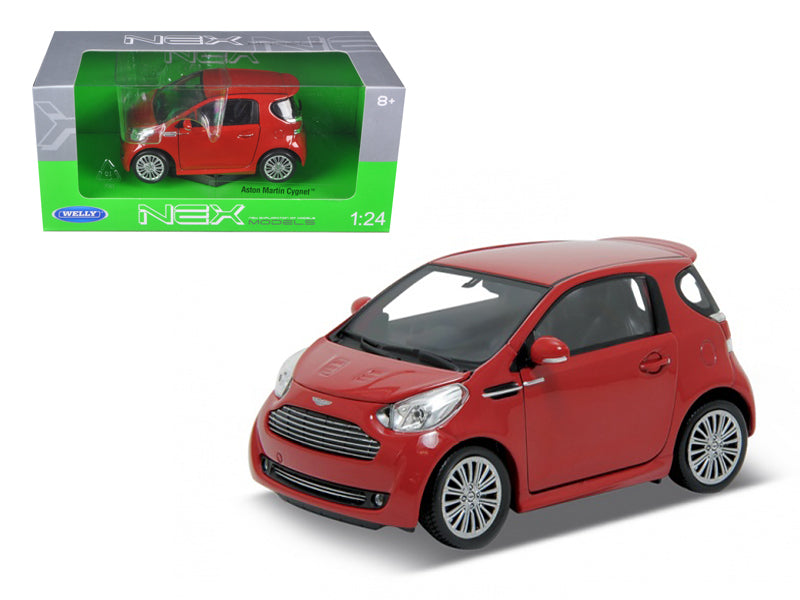 Aston Martin Cygnet Red 1/24 Diecast Car Model by Welly | Allshop.store
