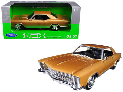 1965 Buick Riviera Gran Sport Gold 1/24 - 1/27 Diecast Model Car by Welly | Allshop.store
