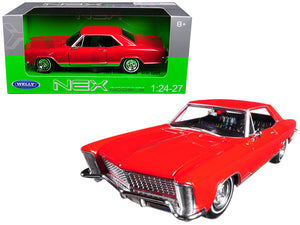 1965 Buick Riviera Gran Sport Red 1/24 - 1/27 Diecast Model Car by Welly | Allshop.store
