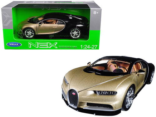 Bugatti Chiron Gold / Black 1/24 - 1/27 Diecast Model Car by Welly | Allshop.store