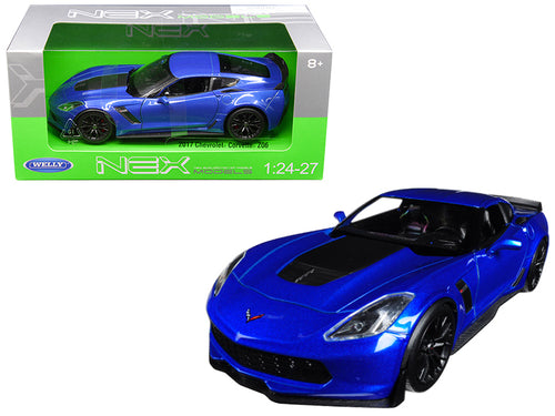 2017 Chevrolet Corvette Z06 Blue 1/24 - 1/27 Diecast Model Car by Welly | Allshop.store