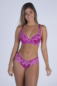 Pink Dream Push-up Strap Detail Bra and Thong