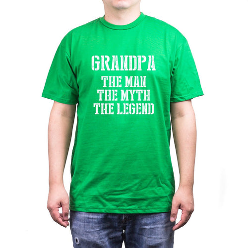 Grandpa Man Myth Legend Green T-Shirts