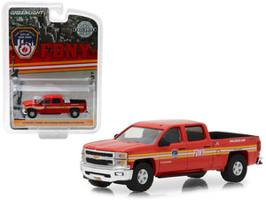 "2015 Chevrolet Silverado 4x4 Pickup Truck FDNY (The Official Fire Department City of New York) ""Hobby Exclusive"" 1/64 Diecast Model Car by Greenlight 