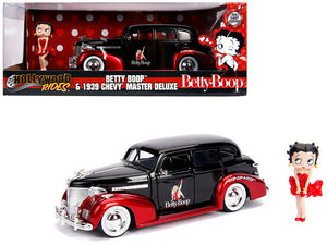 1939 Chevrolet Master Deluxe Black with Betty Boop Diecast Figure