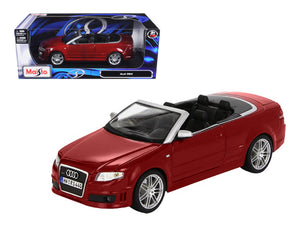 Audi RS4 Convertible Red 1/18 Diecast Model Car by Maisto