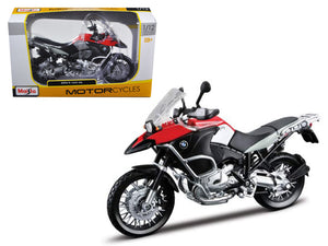 BMW R1200GS Red Motorcycle 1/12 Diecast Model by Maisto | Allshop.store