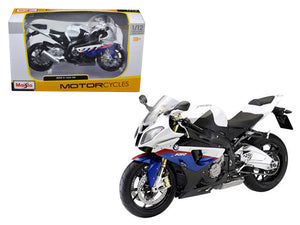 BMW S1000RR White/Red/Blue Motorcycle 1/12 Diecast Model by Maisto | Allshop.store