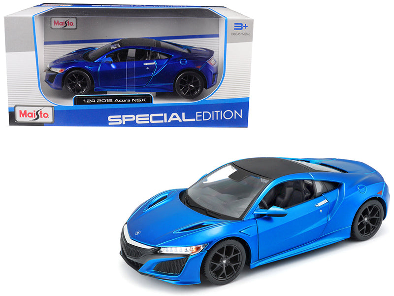 2018 Acura NSX Blue with Black Top 1/24 Diecast Model Car by Maisto | Allshop.store