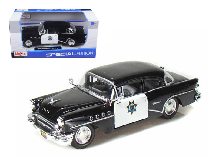 1955 Buick Century Police 1/26 Diecast Model Car by Maisto | Allshop.store