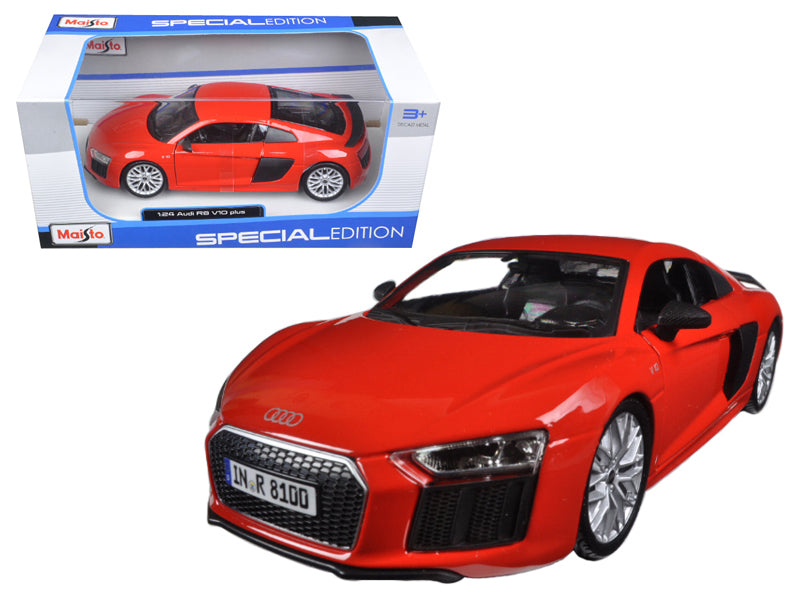Audi R8 V10 Plus Red Special Edition 1/24 Diecast Model Car by Maisto | Allshop.store