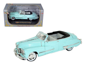 1947 Cadillac Series 62 Light Blue Convertible 1/32 Diecast Car Model by Signature Models | Allshop.store