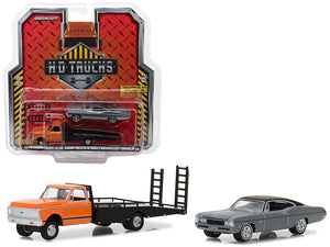 1972 Chevrolet C-30 Ramp Truck and 1968 Chevrolet Impala SS HD Trucks Series 12 1/64 Diecast Models by Greenlight