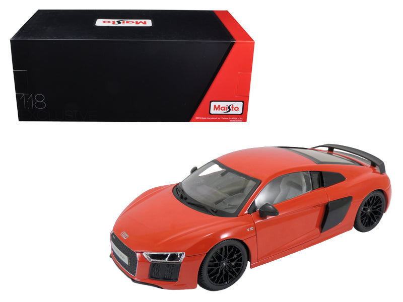 Audi R8 V10 Plus Red Exclusive Edition 1/18 Diecast Model Car by Maisto | Allshop.store