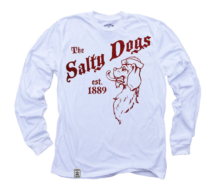 The Salty Dogs: Organic Fine Jersey Long Sleeve T-Shirt