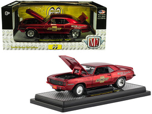 "1969 Chevrolet Camaro R/28 RS ""Mooneyes"" Candy Red Limited Edition to 5,880 pieces Worldwide 1/24 Diecast Model Car by M2 Machines 