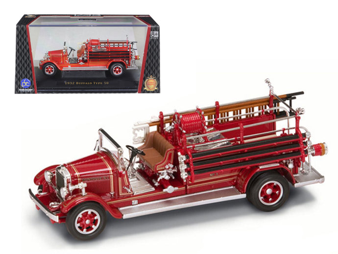 1932 Buffalo Type 50 Fire Engine Red 1/43 Diecast Car Model by Road Signature | Allshop.store