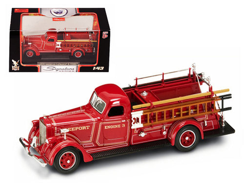1939 American LaFrance B-550RC Fire Engine Red 1/43 Diecast Car Model by Road Signature | Allshop.store