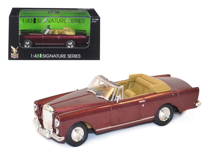 1961 Bentley Continental S2 Park Ward DHC Convertible Burgundy 1/43 Diecast Car Model by Road Signature | Allshop.store