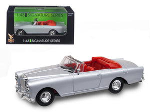 1961 Bentley Continental S2 Park Ward DHC Convertible Silver 1/43 Diecast Car Model by Road Signature | Allshop.store