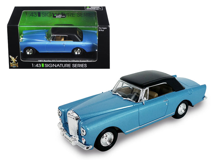 1961 Bentley Continental S2 Park Ward Blue 1/43 Diecast Model Car by Road Signature | Allshop.store