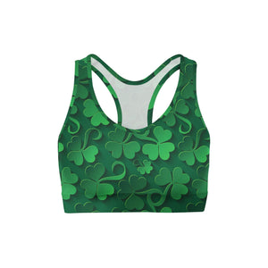 Clovers All Over Back Color Sports Bra
