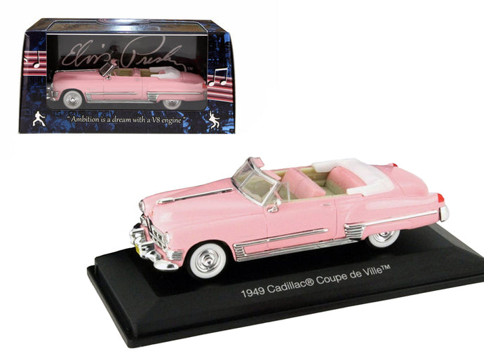 1949 Elvis Presley Pink Cadillac Convertible 1/43 Diecast Model Car by Motorcity Classics | Allshop.store