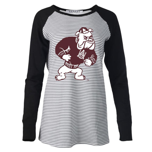 NCAA Alabama A&M Bulldogs PPAMU02 Women's Striped Thumbhole Long Sleeve